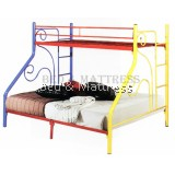 321 Single Over Queen Metal Bunk Bed