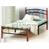 1555 Wood/Metal Single Bed