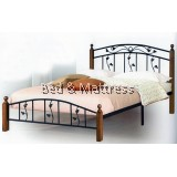 2328 Wood/Metal Queen Bed