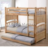222N Wooden Bunk Bed with Trundle