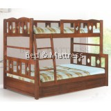ATN7216/7316A-DD Wooden Bunk Bed