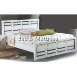 ATN8566WH Wooden Queen Bed