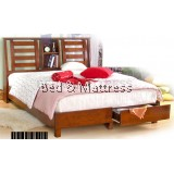 ATN9517 Wooden Queen Bed with Drawers