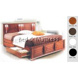 ATN9537 Wooden Queen Bed with Drawers