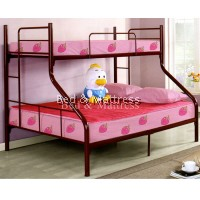 Maroon Metal Twin/Full Bunk Bed
