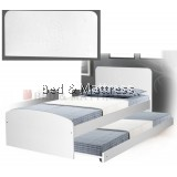 ATN8248 Wooden Single Bed With Trundle