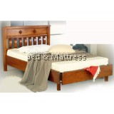ATN9215 Wooden Single Bed with Drawer