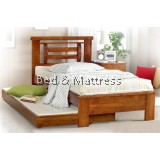 ATN9270 Wooden Single Bed With Trundle