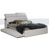 OBS BED-00148 Upholstered Divan Bed with Trundle