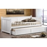 XL9303WH Wooden Day Bed with Trundle