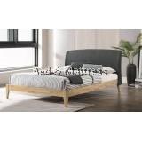 Jack Hagen 903 Wooden Queen Bed With Upholstered Headboard