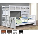 ATN3507/3607WH Twin/Full Bunk Bed
