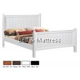 ATN504/604WH Wooden Queen Bed
