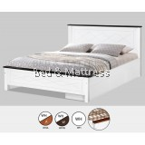 AT CS1501/CS1601WHA Wooden Queen Bed with Drawers