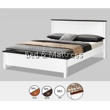 AT CS1505/CS1605WHW Wooden Queen Bed