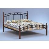 ADB-1Wood/Metal Queen Bed
