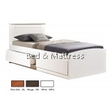 AT CS32+3227WH Wooden Single Bed with Drawers