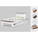 ATN CS1214/1314WHAWooden Single Bed with Drawers