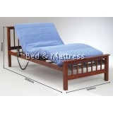 TH WB-S3AWooden Single Bed with Mattress