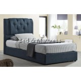BR PB Upholstered Divan Single Bed Frame