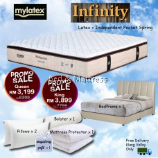 Mylatex Infinity Mattress BUY 1 FREE 7 Goodies PROMOTION