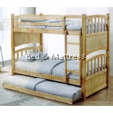 DW 2228-N Wooden Bunk Bed with Trundle