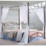 Faye Metal Queen Poster Bed