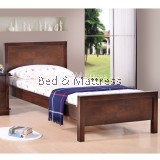 Acelan Wooden Single Bed