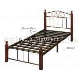 Sonia Wood/Metal Sigle Bedframe