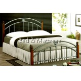 Abbey Wood Metal Queen Bed