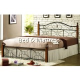 Aisley Wood/Metal Queen Bed