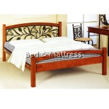Aya Wood/Metal Queen Bed