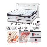 Italia Sunno Gelato Pocketed Coil + Memory Foam Mattress