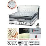 Italia Sunno Livani Pocketed Coil + 50mm Natural Latex Mattress