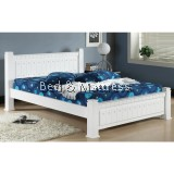 6509/6609WH Wooden Queen Bed