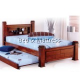 6302/6402 Wooden Single Bed