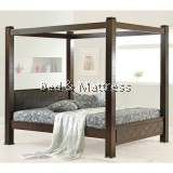 6517/6617 Wooden Queen Poster Bed