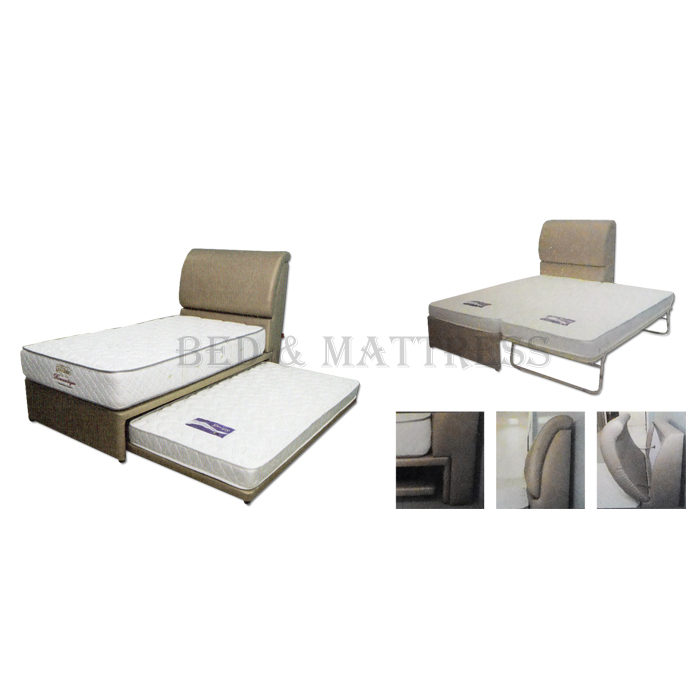 Goodnite 4002 3 in 1 multi function single divan bed with for Divan trundle bed