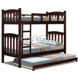 OBS 36DD Wooden Bunk Bed with Trundle