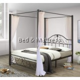 Elegant Poster Metal Queen Bed
